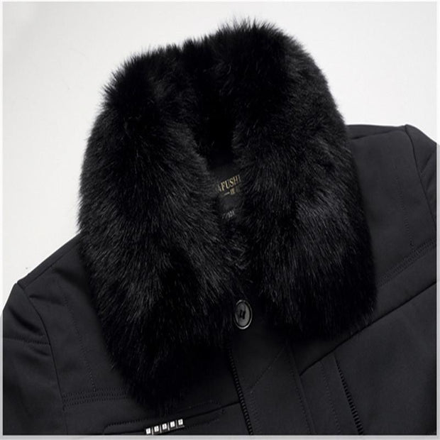 West Louis™ Thick High Quality Down Cotton Fur Jacket  - West Louis