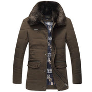 West Louis™ Thick High Quality Down Cotton Fur Jacket green / L - West Louis