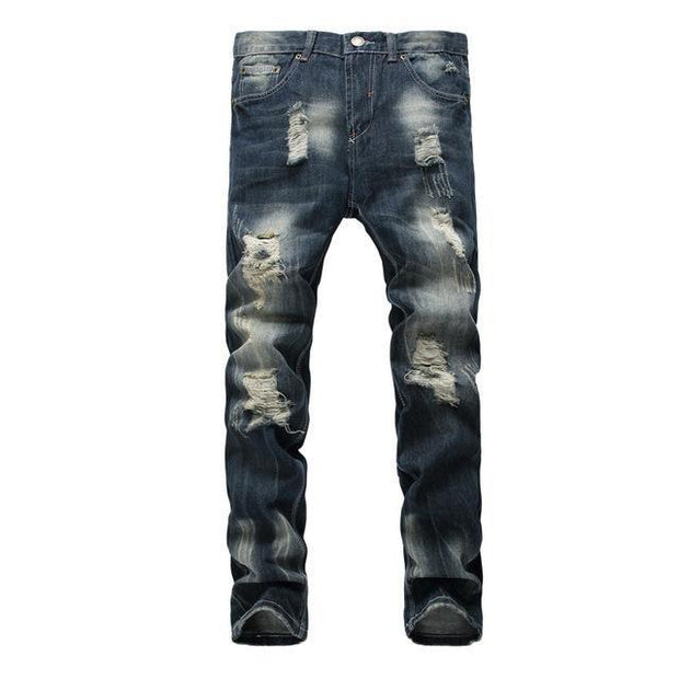 West Louis™ High Quality Denim Holes Jeans Blue / 28 - West Louis