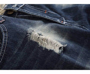 West Louis™ High Quality Denim Holes Jeans  - West Louis