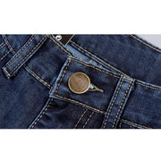 West Louis™ Denim Casual Blue Jeans  - West Louis