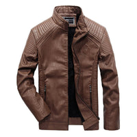West Louis™ Autumn Leather Jacket Champagne / XL - West Louis