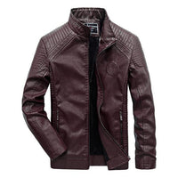 West Louis™ Autumn Leather Jacket Red / XL - West Louis