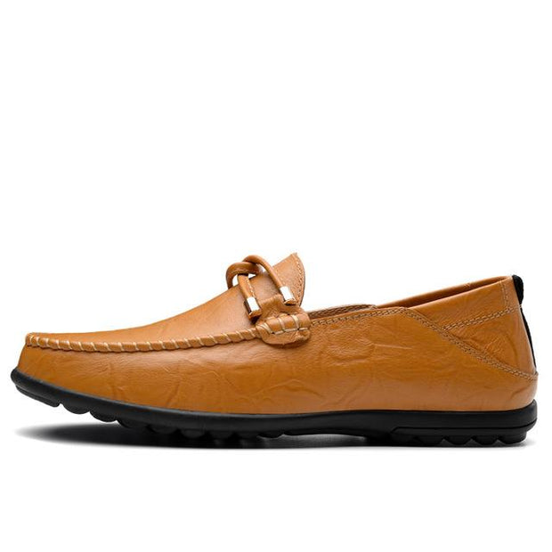 West Louis™ Casual Cow leather Moccasins Yellow / 5 - West Louis