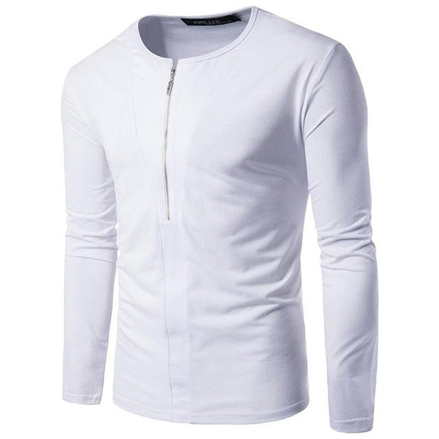 West Louis™  Dress Long Sleeve Zipper Shirt White / S - West Louis