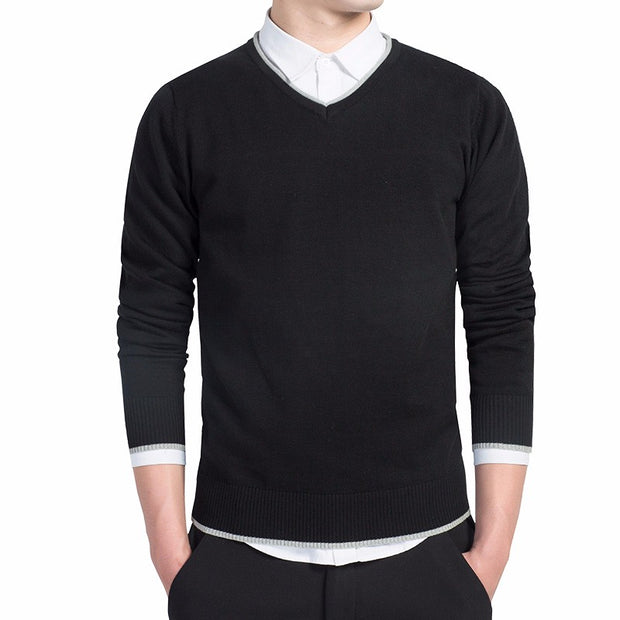 West Louis™ Knitted Warm V-Neck Pullover