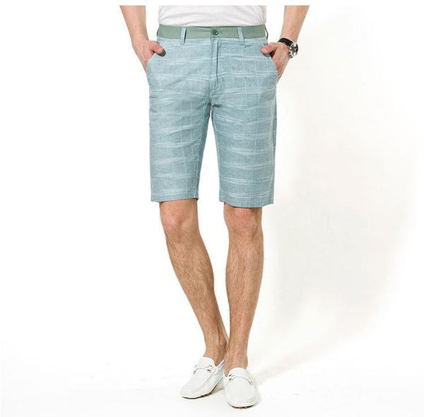 West Louis™ Linen Cotton Plaid Summer Shorts - West Louis, Top of the line Men Shorts