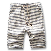 West Louis™ Cotton Linen Stripe Shorts Gray / L - West Louis