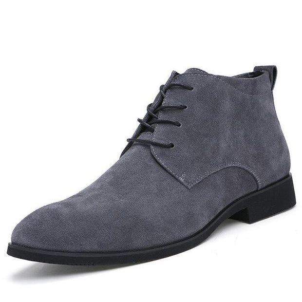 West Louis™ British Leather Ankle Boots Gray / 7 - West Louis