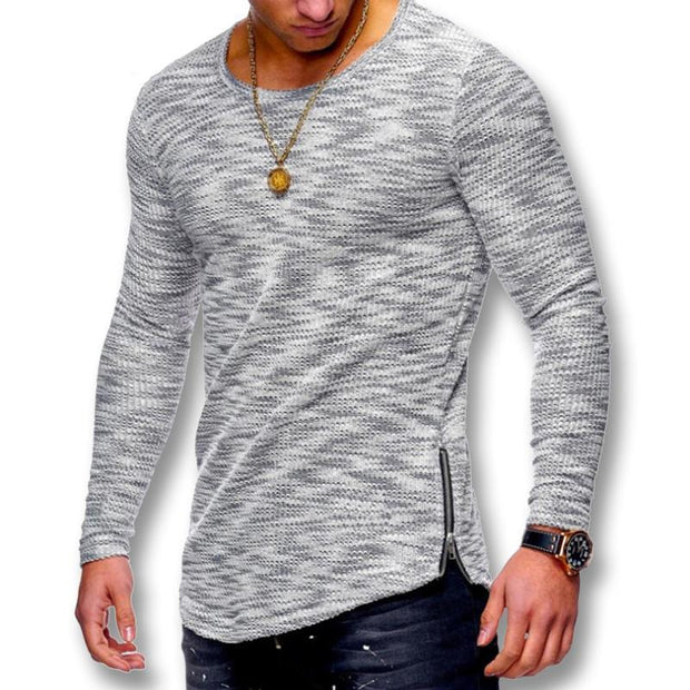 West Louis™ Spring Long Sleeved O Neck T Shirt  - West Louis