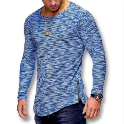 West Louis™ Spring Long Sleeved O Neck T Shirt Blue / XS - West Louis
