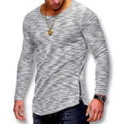 West Louis™ Spring Long Sleeved O Neck T Shirt Light Gray / XS - West Louis