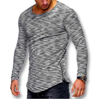 West Louis™ Spring Long Sleeved O Neck T Shirt Dark Gray / XS - West Louis