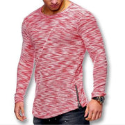West Louis™ Spring Long Sleeved O Neck T Shirt Red / XS - West Louis