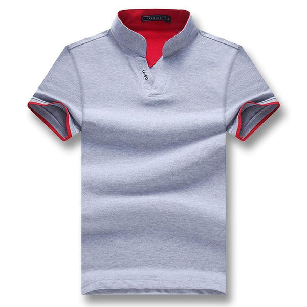 West Louis™ Summer Short Sleeved Turn Down Collar Polo Shirt  - West Louis