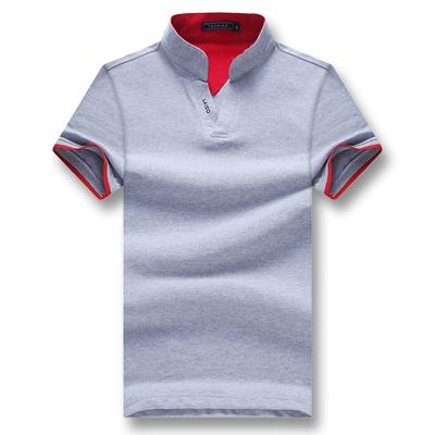 West Louis™ Summer Short Sleeved Turn Down Collar Polo Shirt Gray / XL - West Louis