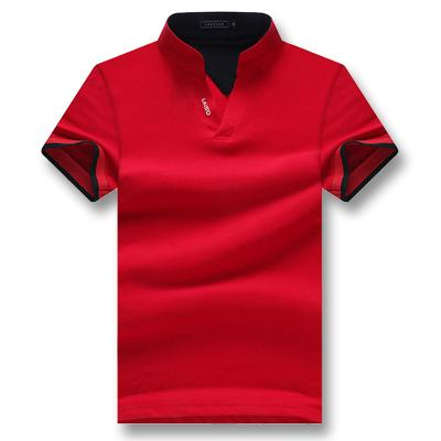 West Louis™ Summer Short Sleeved Turn Down Collar Polo Shirt Red / XL - West Louis