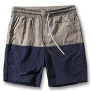 West Louis™ Slim Fitted Knee Length Patchwork Shorts Navy / S - West Louis