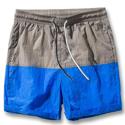 West Louis™ Slim Fitted Knee Length Patchwork Shorts Blue / S - West Louis