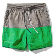 West Louis™ Slim Fitted Knee Length Patchwork Shorts Green / S - West Louis