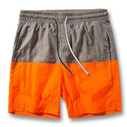 West Louis™ Slim Fitted Knee Length Patchwork Shorts Orange / S - West Louis