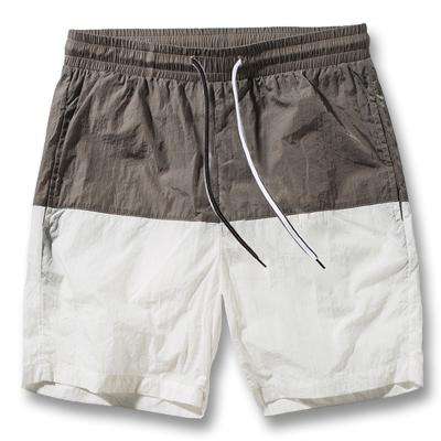 West Louis™ Slim Fitted Knee Length Patchwork Shorts White / S - West Louis