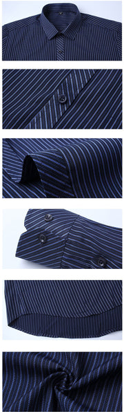 West Louis™ Fashion Slim Fitted Turn Down Dress Shirt  - West Louis