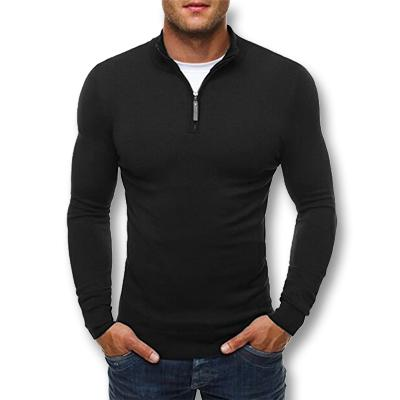 West Louis™ Knitwear Slim Fitted Pullover Black / L - West Louis