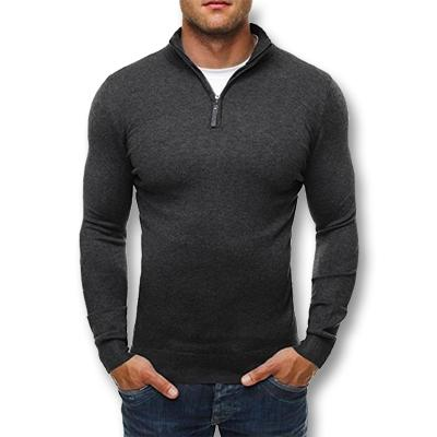 West Louis™ Knitwear Slim Fitted Pullover Dark Gray / L - West Louis