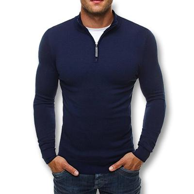 West Louis™ Knitwear Slim Fitted Pullover Navy / L - West Louis