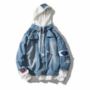 West Louis™ Spring Mens Hooded Jackets Light Blue / M - West Louis