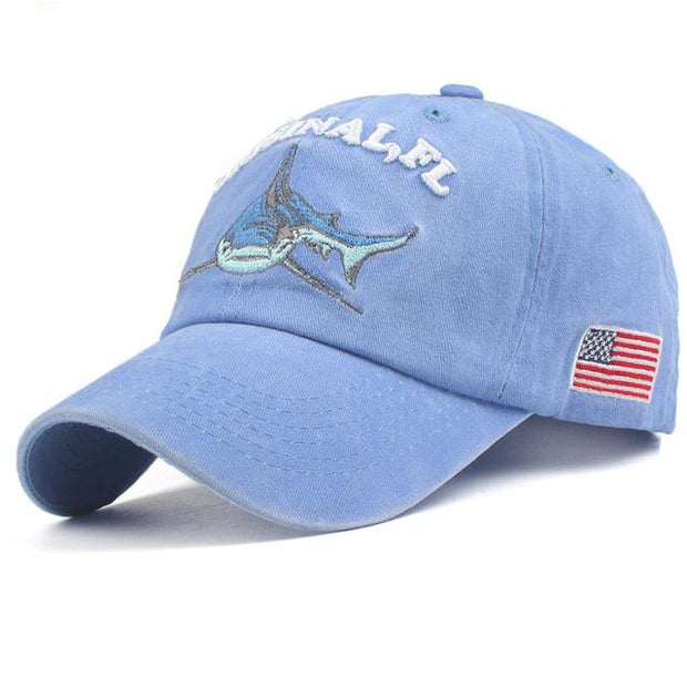 West Louis™ Washed Cotton Baseball Cap Sky Blue / One Size - West Louis