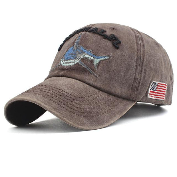 West Louis™ Washed Cotton Baseball Cap Brown / One Size - West Louis