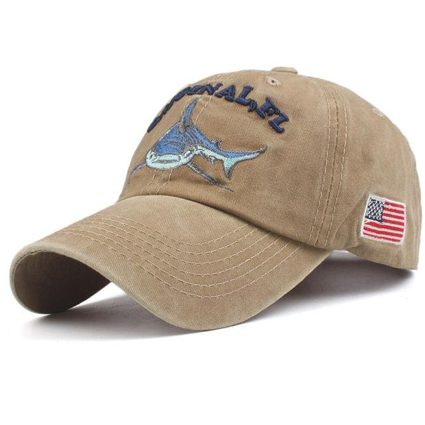 West Louis™ Washed Cotton Baseball Cap Khaki / One Size - West Louis