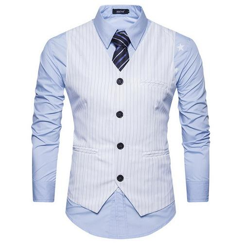 West Louis™  England Style Stripe Formal Vest White / S - West Louis