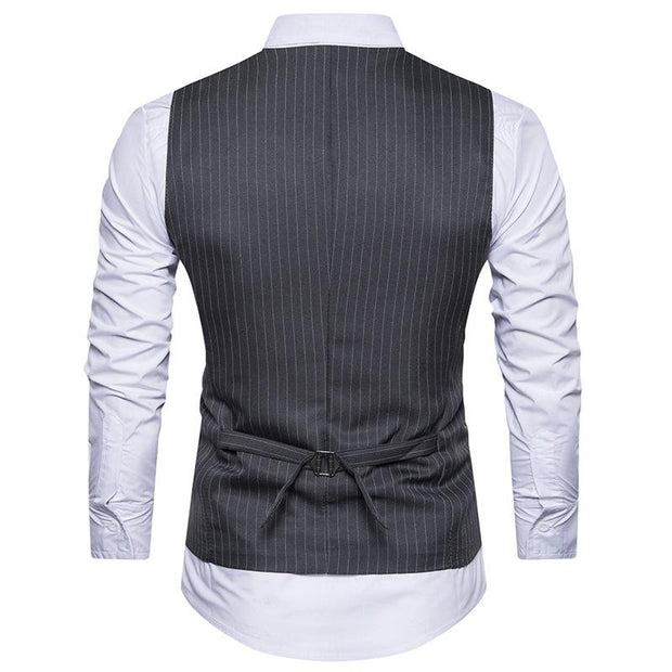 West Louis™  England Style Stripe Formal Vest  - West Louis