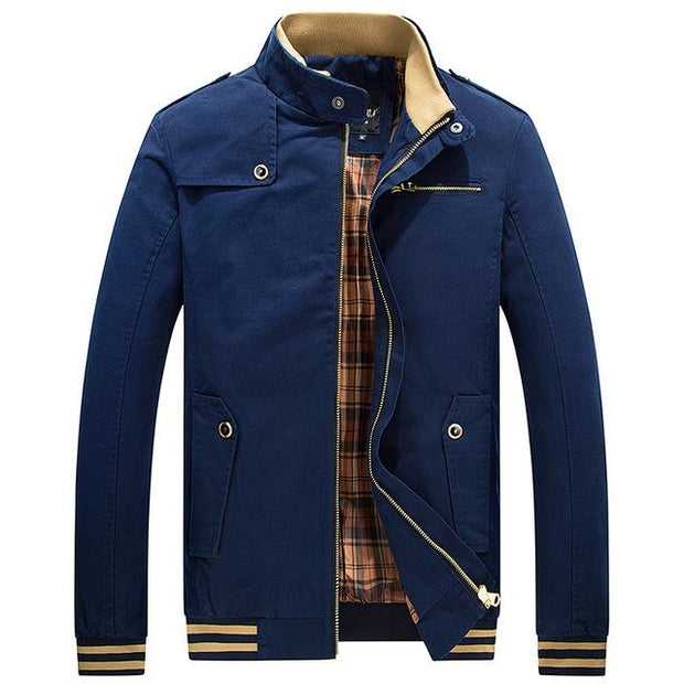 West Louis™ Stand Collar Zipper Coats Blue / M - West Louis