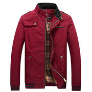 West Louis™ Stand Collar Zipper Coats Red / M - West Louis