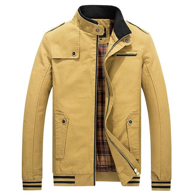 West Louis™ Stand Collar Zipper Coats Yellow / M - West Louis