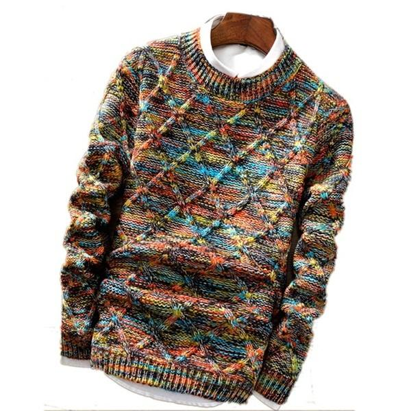 West Louis™ Knitwear Casual Autumn Sweater Colorful / XL - West Louis