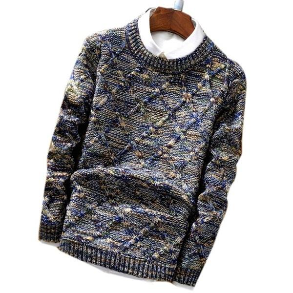 West Louis™ Knitwear Casual Autumn Sweater Navy Blue / XL - West Louis