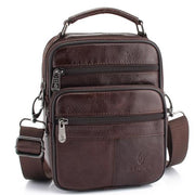West Louis™ Genuine Cowhide Leather Shoulder Bag Brown - West Louis