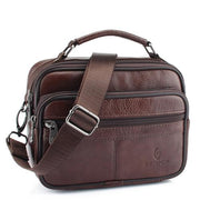 West Louis™ Genuine Cowhide Leather Shoulder Bag Brown2 - West Louis