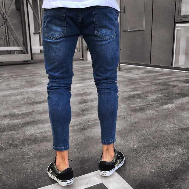 West Louis™ Skinny Distressed Jeans  - West Louis