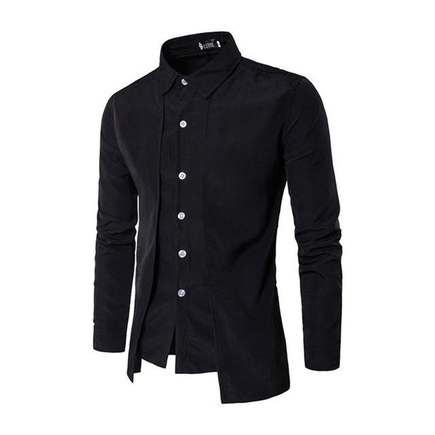 West Louis™ Color Social Dress Shirt Black / M - West Louis