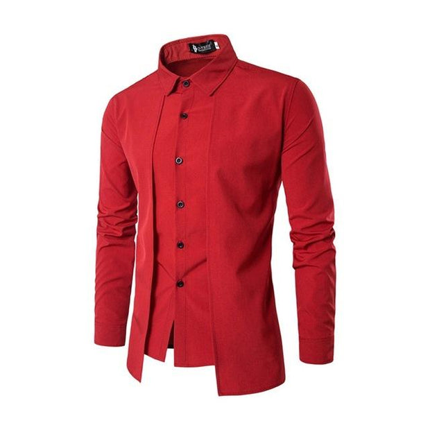West Louis™ Color Social Dress Shirt Red / M - West Louis