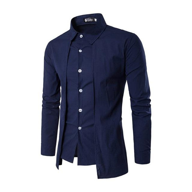 West Louis™ Color Social Dress Shirt Blue / M - West Louis