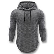 West Louis™ Autumn Long Hooded Shirt Dark Gray / L - West Louis