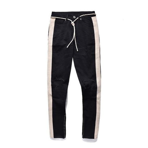 West Louis™ Hip Hop Pencil Jeans Black / 30 - West Louis