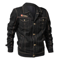 West Louis™ Autumn Army Jackets Black / XL - West Louis